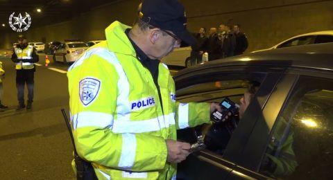 في ليلة رأس السنة: ضبط 58 سائقًا تحت تأثير الكحول وطعن لاعب من الدرجة العليا
