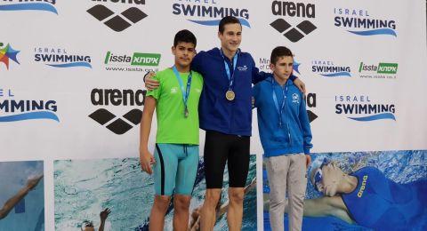 بشار ابو حرش من حيفا يحصل على مراتب متقدمة في بطولة الدولة للسباحة