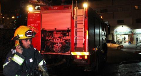 عرابة: حريق في بناية سكنية