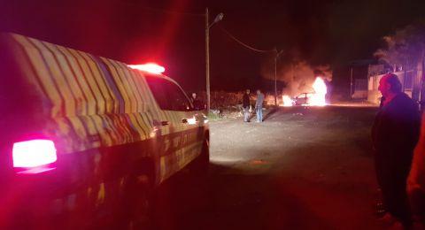 باقة الغربية: اندلاع حريق في سيارة واصابة شاب