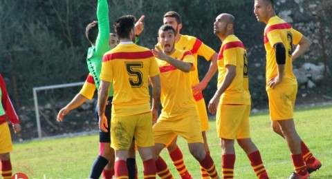 ابعاد لاعب اتحاد مجد الكروم حسام ابو صالح 5 مباريات