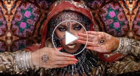 بيونسيه تنألق بالساري الهندي مع كريس مارتن في كليب hymn for the weekend