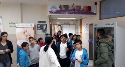 طلّاب مدرسة بير الأمير الجماهيريّة ببرنامج اختتامي لمشروع درس آخر في مستشفى النّاصرة- الإنجليزي