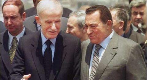مبارك: تل أبيب اشترطت اعتراف سوريا بإسرائيل لاسترداد الجولان