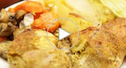 طريقة عمل صينية الدجاج بالخضار بطريقة سهلة وسريعة