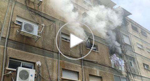 حيفا: نشوب حريق داخل شقة سكنية وتخليص 7 مواطنين