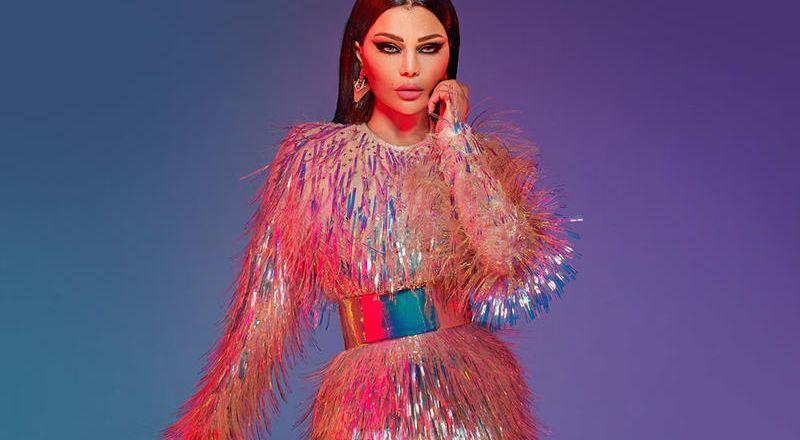 أبرز الفساتين الزهرية من وحي هيفاء وهبي