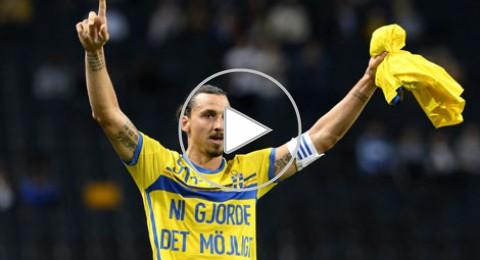 بعد أن سجل هدفه رقم 50 ابراهيموفيتش الهداف التاريخي في السويد